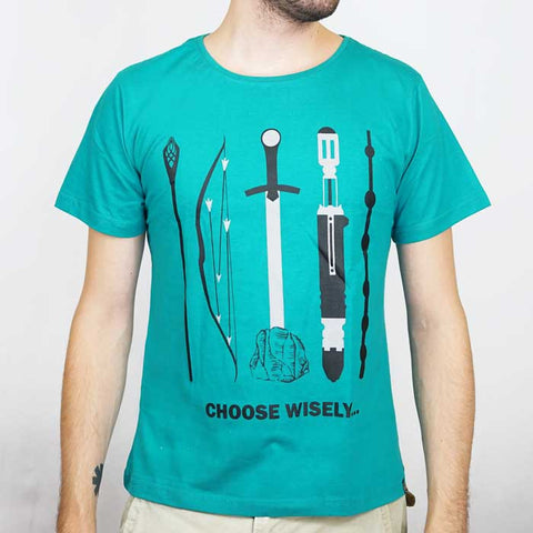 Camiseta Gamer Masculina Choose Wisely - Loja Geek Blackat Store
