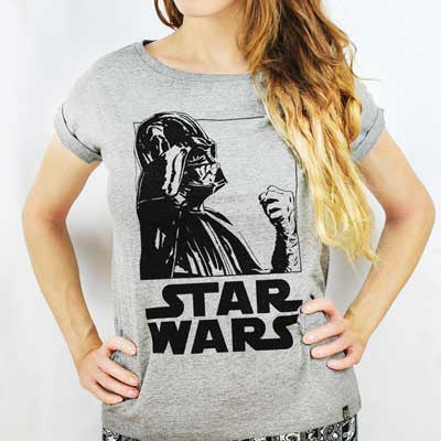 Camiseta Feminina Darth Vader PB - Star Wars