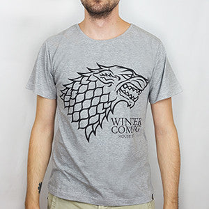Camiseta Masculina House Stark - Game of Thrones - Loja Geek Blackat Store