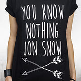 Camiseta Feminina You Know Nothing - Game of Thrones