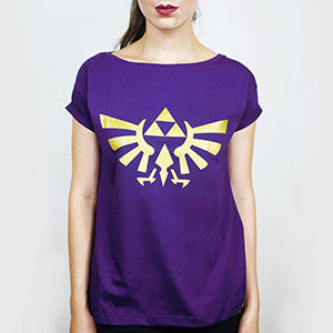 Camiseta Feminina Triforce (dourado) - Legend of Zelda
