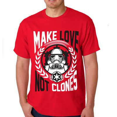 Camiseta Masculina Make Love not Clones - Star Wars