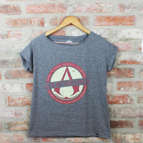 Camiseta Feminina Assassins Creed - Loja Geek Blackat Store