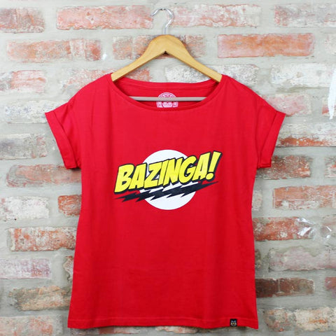 Camiseta Feminina Bazinga - The Big Bang Theory - Loja Geek Blackat Store