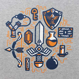 Camiseta Masculina The Legend of Zelda - Itens