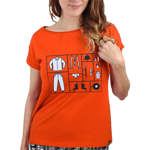 Camiseta Feminina Clockwork Orange Toy - Laranja Mecânica