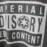 Camiseta Masculina Imperial Advisory Content - Star Wars
