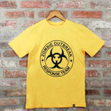 Camiseta Masculina Zombie Outbreak Amarelo- The Walking Dead