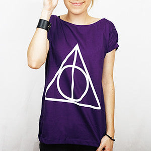 Camiseta Feminina Relíquias da Morte - Harry Potter
