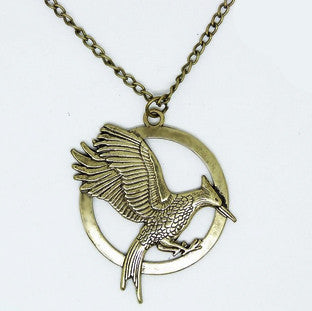 Colar Mockingbird Hunger Games Cobre