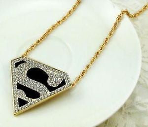 Colar Superman Strass - Loja Geek Blackat Store
