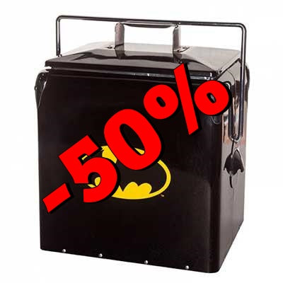 Cooler de Metal Batman Preto - Loja Geek Blackat Store