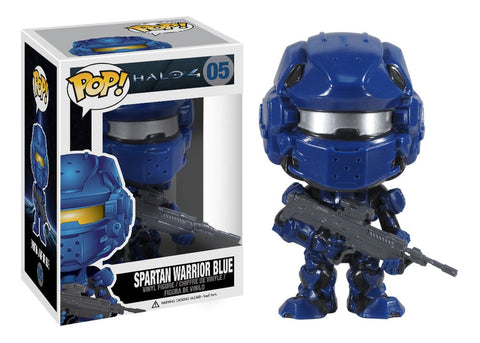 Boneco Halo 4 Spartan Warrior Azul Funko Pop! Vinyl