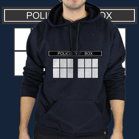 Moletom Unissex Tardis Police Box - Doctor Who - Loja Geek Blackat Store