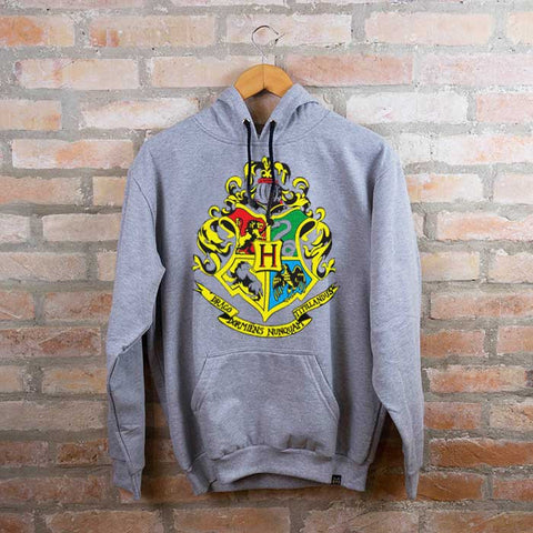 Moletom Unissex Hogwarts c/ Capuz - Harry Potter - Loja Geek Blackat Store