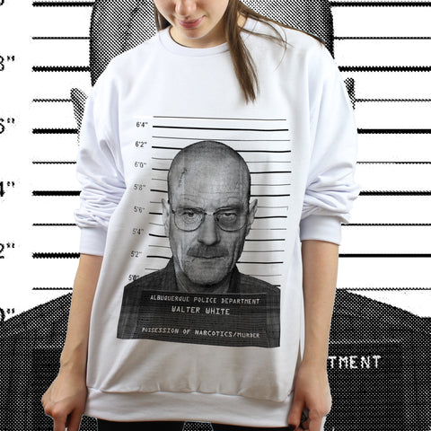 Moletom Unissex Walter White Arrested - Breaking Bad - Loja Geek Blackat Store