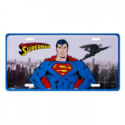 Placa de Metal Decorativa Superman Dc Comics