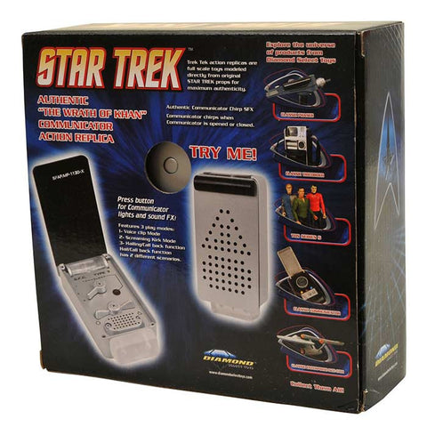 Réplica Comunicador The Wrath Of Khan - Star Trek - Loja Geek Blackat Store