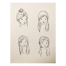 """Four Girls"" A5 Print"