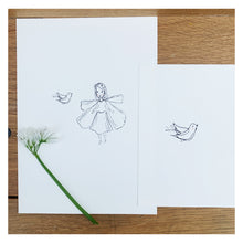 'Dove' Midsummer Fairy Print