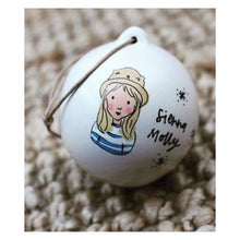 Custom Illustrated Painted Bauble