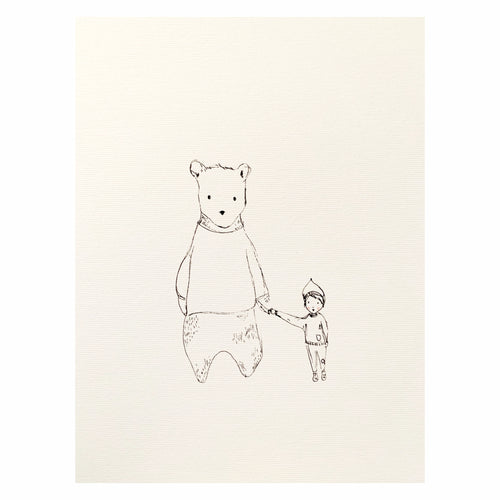 'The bear & the boy' Print