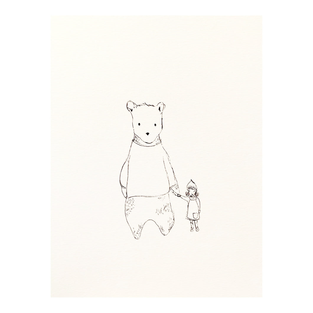 'The bear & the girl' Print