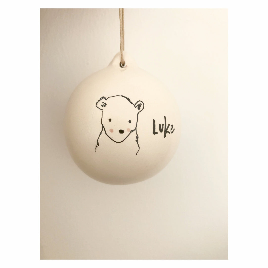 'Bear Cub' Illustrated Bauble