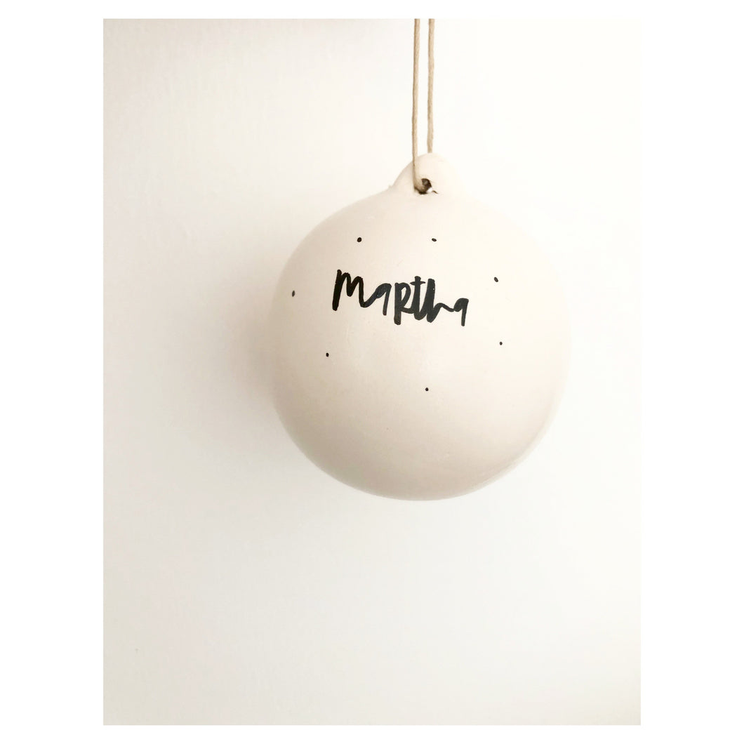 Lettered Bauble