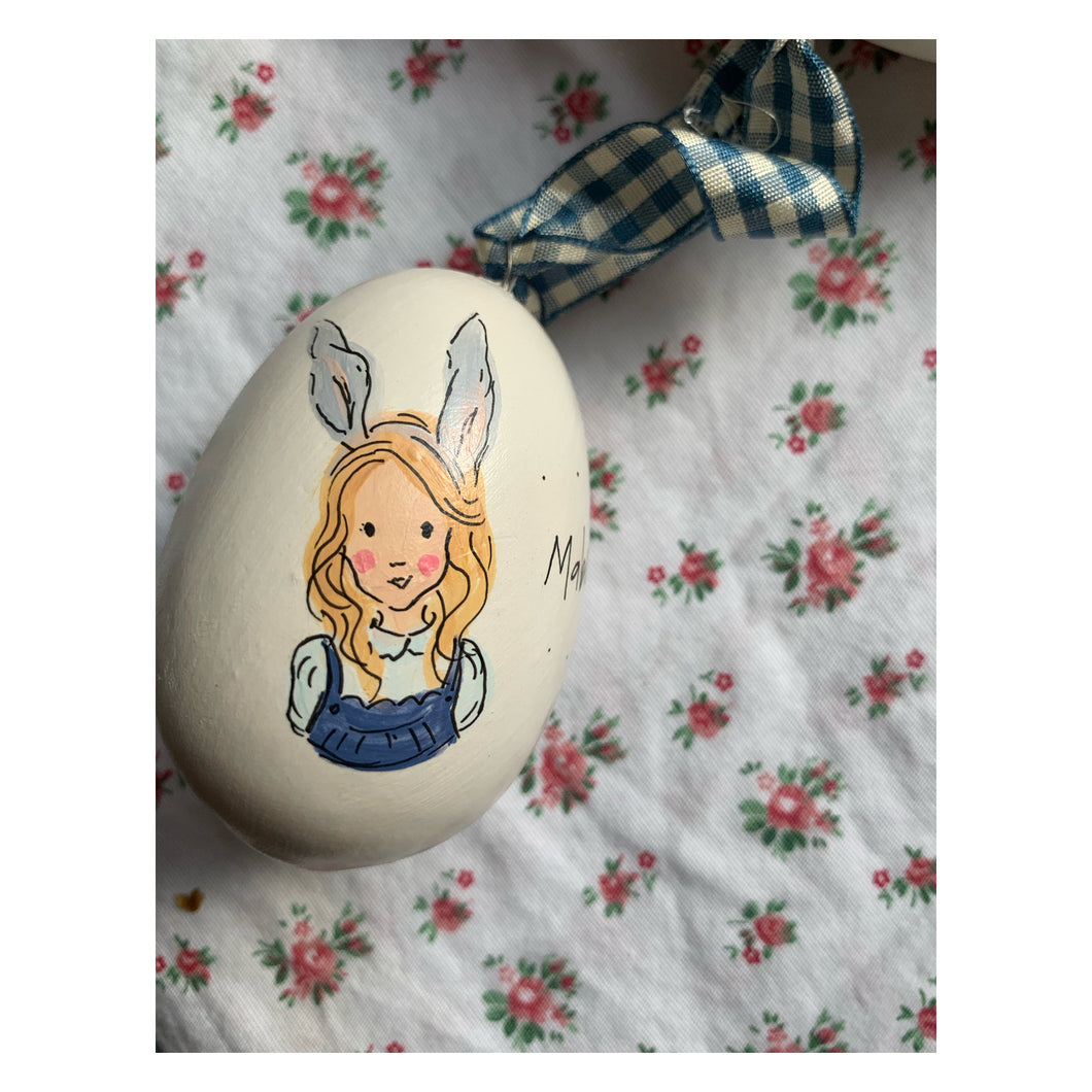 Custom Illustrated Ceramic Egg