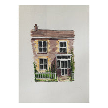 'House Illustration' A4 Custom Watercolour