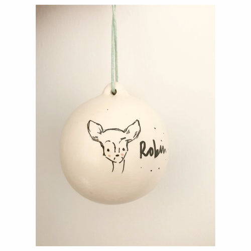 'Little Fawn' Illustrated Bauble