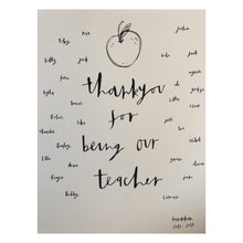 """Thank you Teacher"" print"
