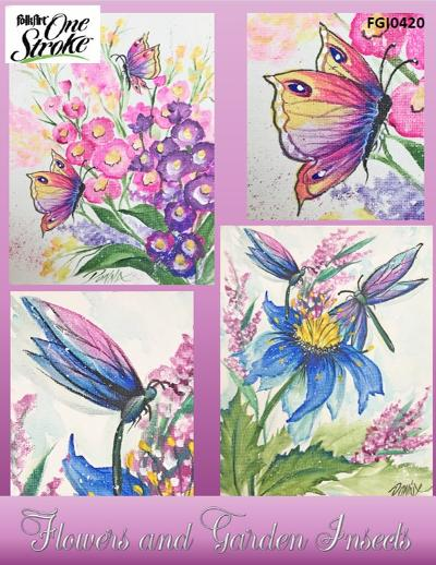 Flowers & Garden Insects-Watercolor/Waterstrokes with Acrylics Project Packet