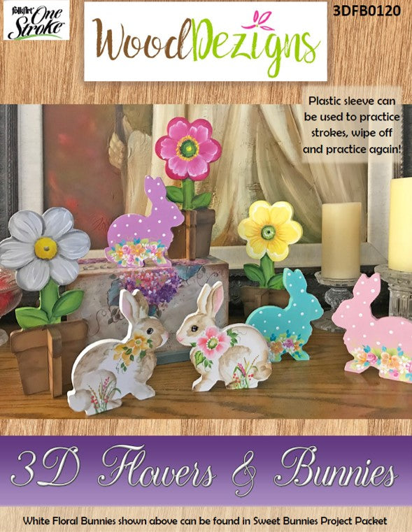 3D Flowers & Bunnies WoodDezign Packet