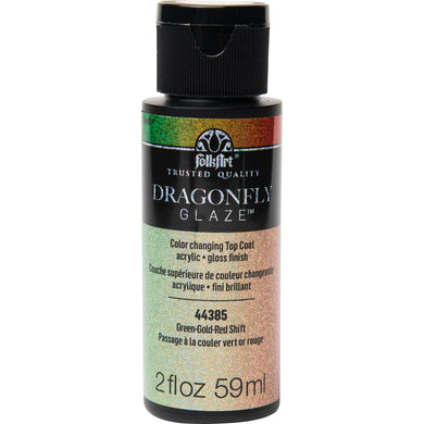 44385 Green-Gold-Red Shift Dragonfly Glaze 2 oz.