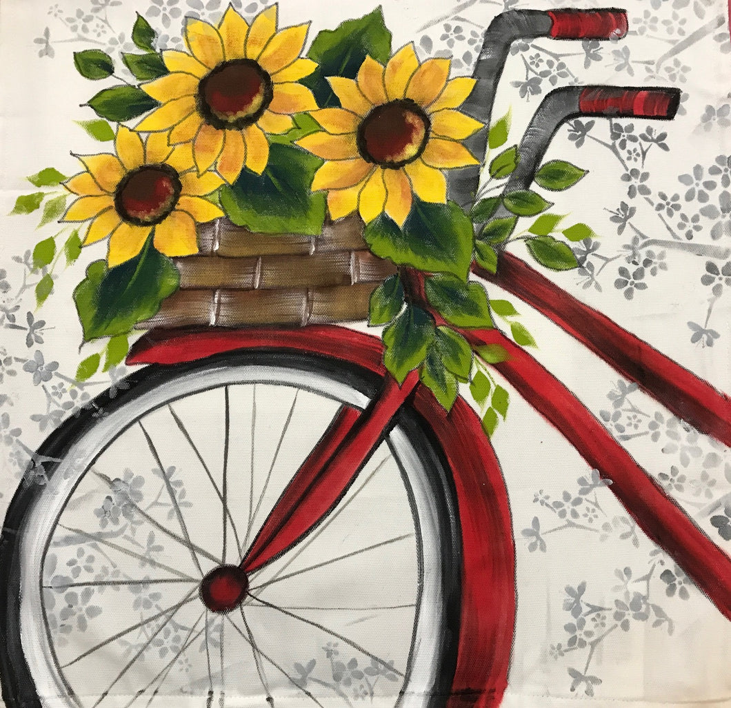 Sunflower Basket Bicycle Design Downloadable Video Lesson