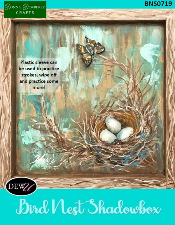 Bird Nest Shadowbox Convention 2019 Project Packet