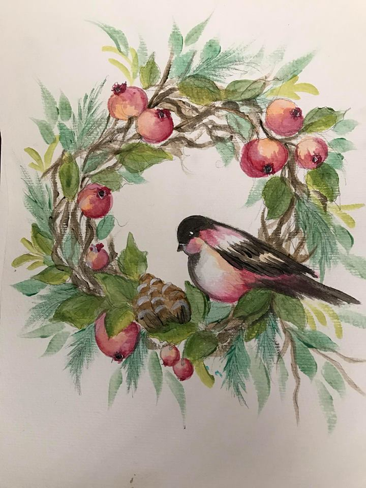 Holiday Bird Wreath Course Video