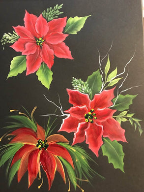 Stroke Study Lesson 8 - Christmas Florals and Greenery