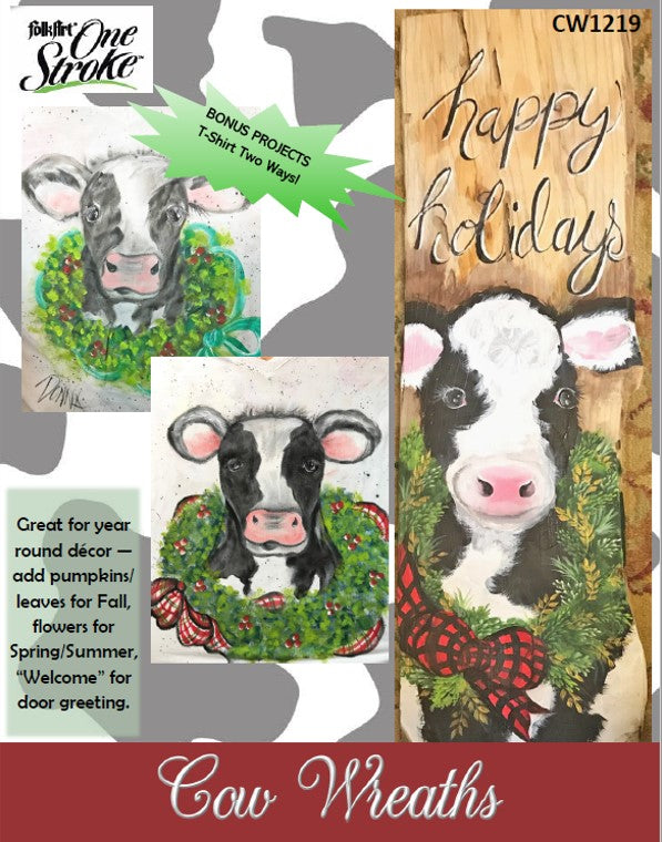 Cow Wreaths Packet