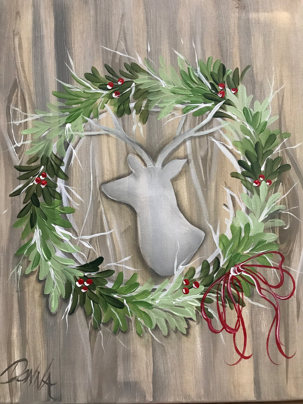 Holiday Deer Wreath Course Video