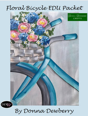 EDU Packets (Painting Parties) Floral Bicycle