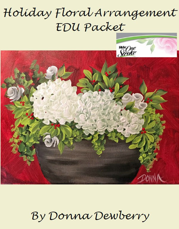 EDU Packets (Painting Parties) Holiday Floral Arrangement