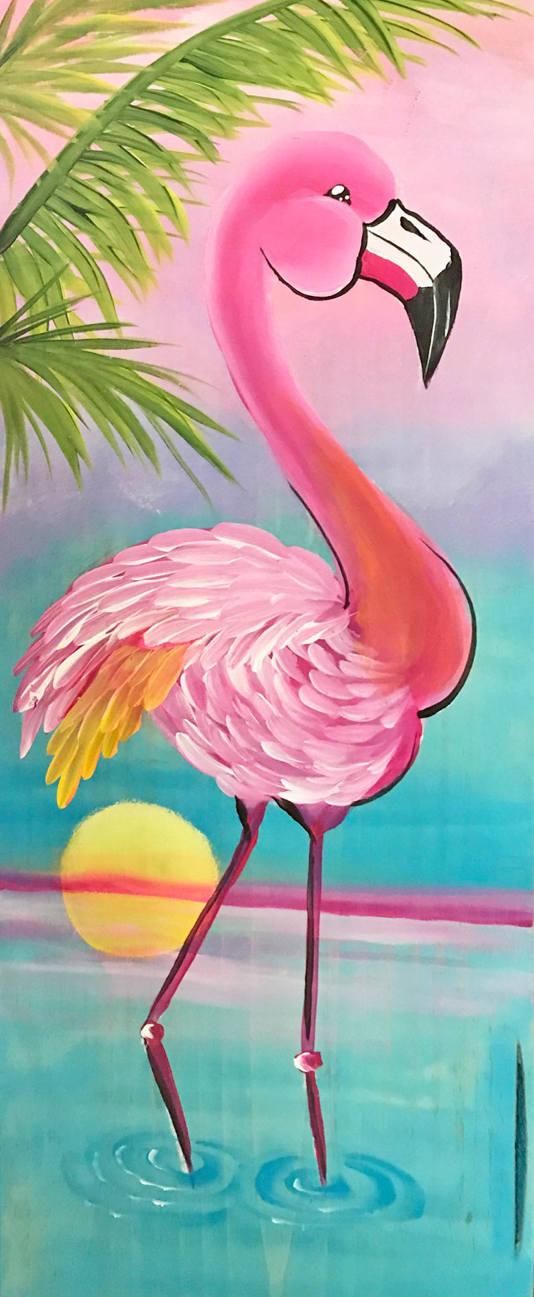 Flamingo Sunset Downloadable Video Lesson