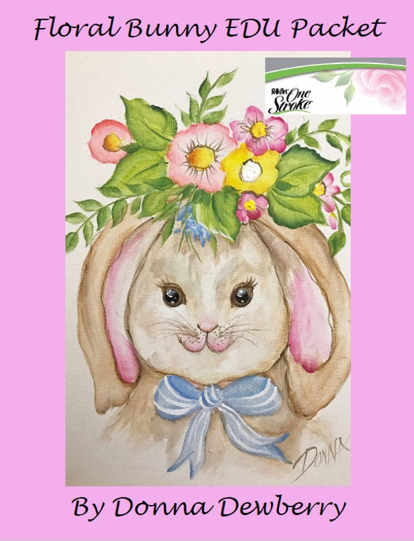 EDU Packets (Painting Parties) Floral Bunny