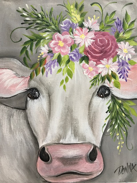 Vintage Floral Animal - Cow Course Video