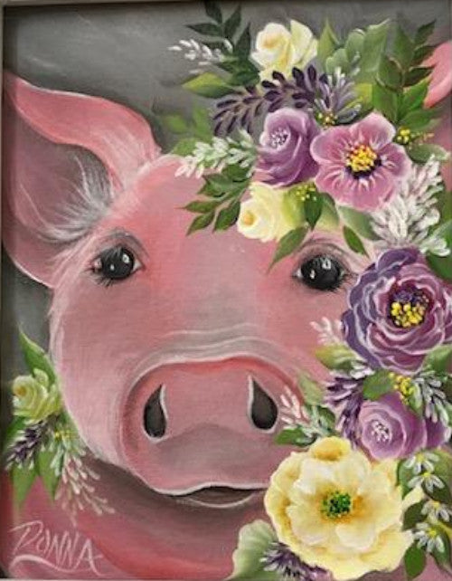 Vintage Floral Animal - Pig Course Video