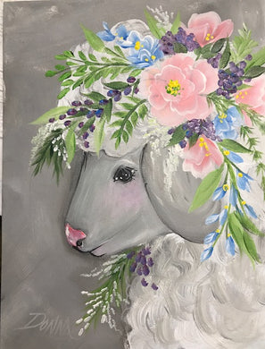 Vintage Floral Animal - Lamb Course Video