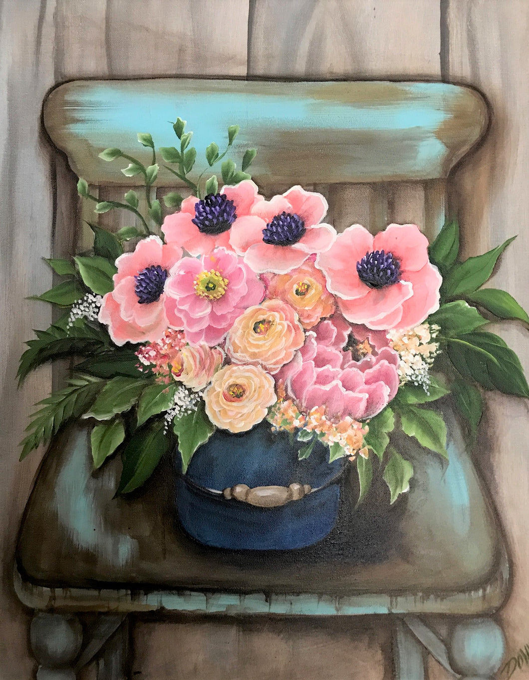 Florals in Chair Downloadable Video Lesson